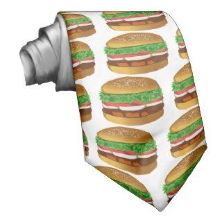 hamburger costume neck ties