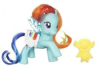 Hasbro 26072 My Little Pony Funkelpony Rainbow Dash mit blinkenden