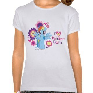 Heart Rainbow Dash Tee Shirts