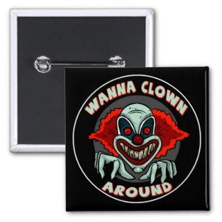 Evil Clown Biker T shirts Gifts Pin