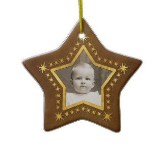 Star Shaped Photo Frame Christmas Tree Ornament