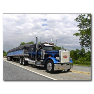 Moose Peterbilt 359 Postcard