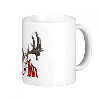 Whitetail deer skull coffee mug