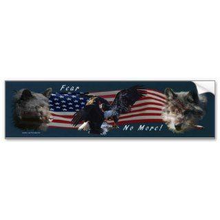 Bear, Wolf, Eagle, US Flag Patriot Bumper Sticker