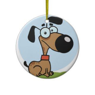 Dog cartoon character ornament