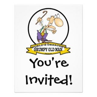 WORLDS GREATEST GRUMPY OLD MAN CARTOON INVITE