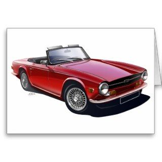 Triumph TR6 Greeting Card