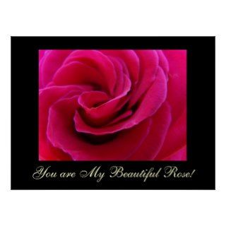 You are My Beautiful Rose! art print gifts Framed
