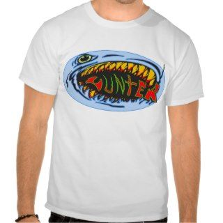 Shark Hunter Graffiti Art Tee Shirt