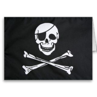 Pirate Skull and Cross Bones   Jolly Roger Cards