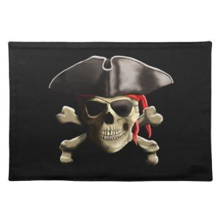 The Jolly Roger Pirate Skull Place Mat