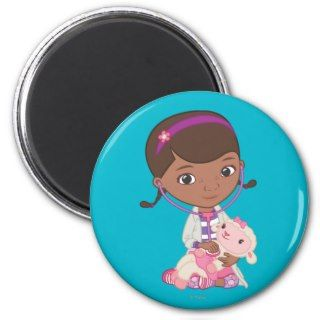 Doc McStuffins Holding Lambie Fridge Magnets