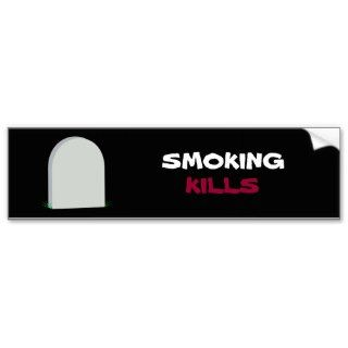 SMOKING, KILLS bumper sticker