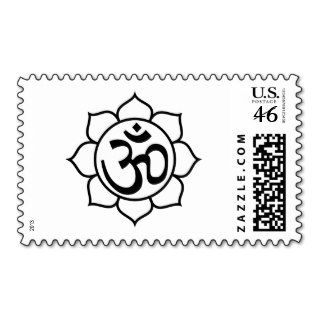 Lotus Flower Aum Symbol Stamps