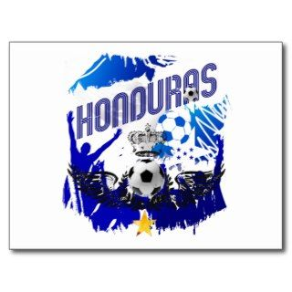 Honduras Grunge flag soccer futbol celebration Post Card