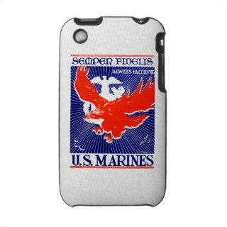 WWII Marine Corps Poster iPhone 3 Covers