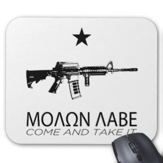 Molon Labe   Come And Take It Mouse Pad