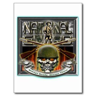 Army National Guard Skull and Rifles Post Cards