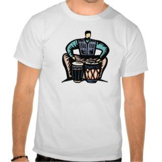 Man Playing Bongos Stylized Graphic T shirt