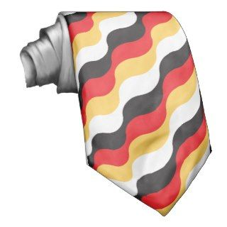 German flag seamless pattern neck ties