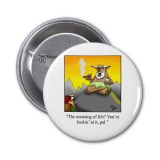 Funny Cigar Wise Man Cartoon Gifts! Buttons