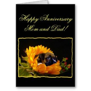 Happy Anniversary mom and dad Boxer Greeting Card