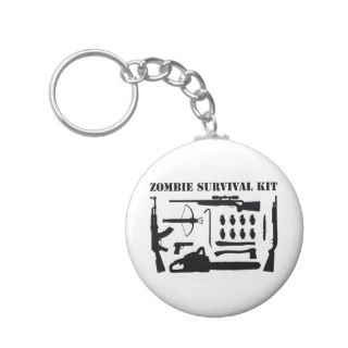 Zombie Survival Kit Keychains