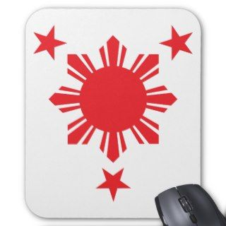 Filipino Basic Sun and Stars   Red Mouse Pad