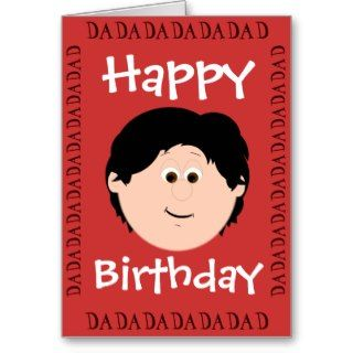 Happy Birthday Dad (Daughter) Greeting Card