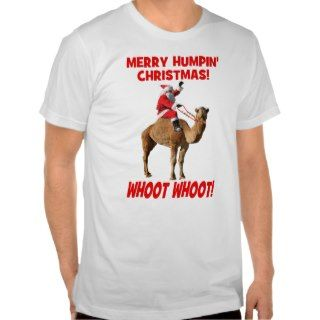 Merry Humpin Christmas Santa & Camel T shirt