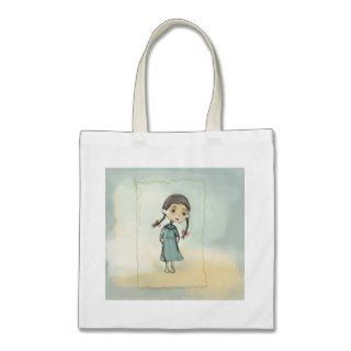 cartoon girl simple sketch Tote Bag
