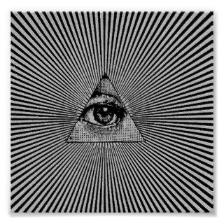 Illuminati All Seeing Eye Trance Poster Sleep