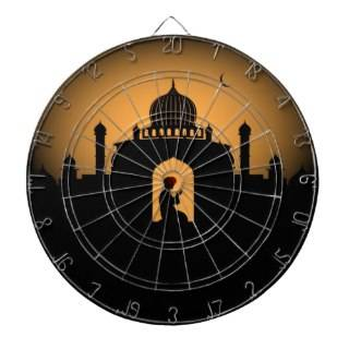 Islamic graphic  Man praying Dart Board