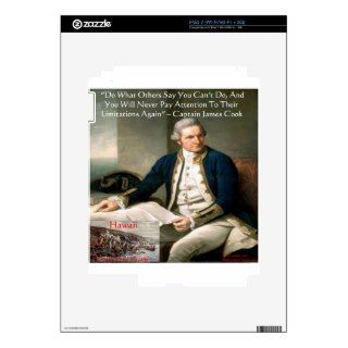 Capn James Cook Hawaii Trip Quote Gifts & Cards Decals For iPad 2