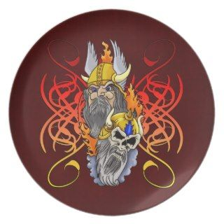 Viking Warrior Tattoo Party Plate