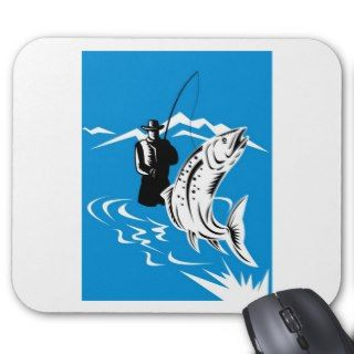 fly fishing trout fish mousepad