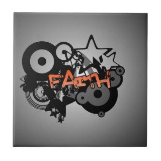 FAITH Graffiti Art Tile