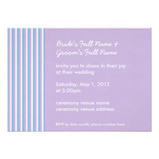 Blue Lilac White Stripes lilac Be My Maid of Honor Greeting Cards