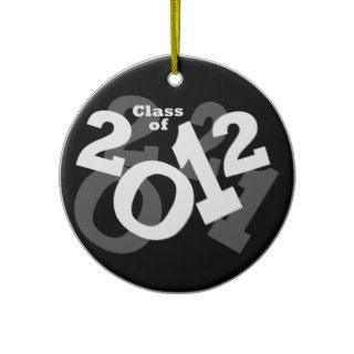 Playful Numbers, Class of 2012 Graduation Design Ornaments