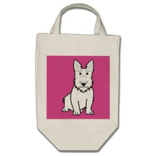Scottish Terrier Dog Cartoon Tote Bag