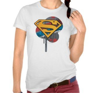 Superman Logo with paint Tank Tops