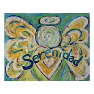 Serenidad Angel Art Poster Prints