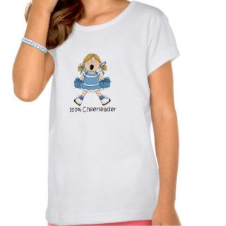 Cute 100 Percent Cheerleader   Blond T Shirt