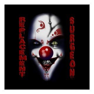 Replacement Surgeon   Evil Clown Print