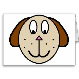 Big Brown Dog cartoon drawing Cards