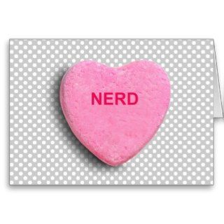 NERD CANDY HEART GREETING CARDS