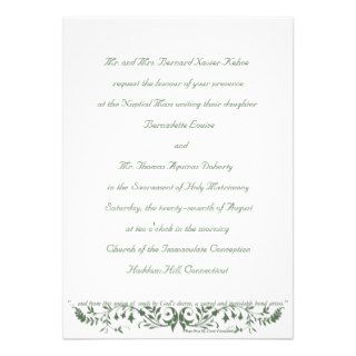 Catholic Wedding Set Invitation Template CC