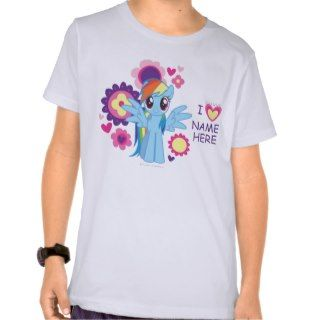 Personalized Rainbow Dash T Shirt