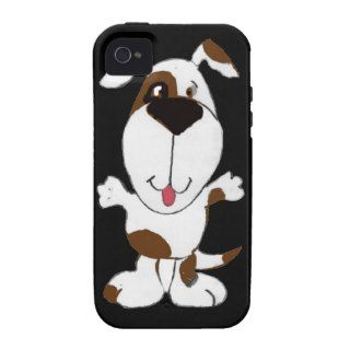 XX  Cute Happy Dog Cartoon Case Mate iPhone 4 Case