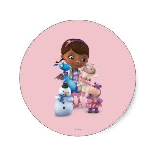 Doc McStuffins and Her Animal Friends Round Sticker